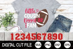 Football SVG, Little brother biggest fan SVG, Football Fan Product Image 5