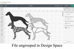 Greyhound Mandala Layered SVG - Dog Breed Paper Cutting Product Image 2