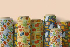 Cute Daily Groceries Seamless Patterns Product Image 3