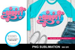 Groovy Retro Style Sublimation Design PNG - Vintage Wear Product Image 2