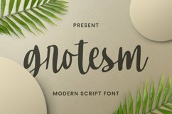 Web Font Grotesm Font Product Image 1