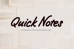 Quick Notes - a handwritten signature font Product Image 1
