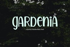 Gardenia - a quirky handwritten font Product Image 1