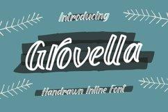 Web Font Grovella - Handrawn Inline Font Product Image 1