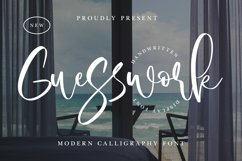 Guesswork - Modern Calligraphy Font Product Image 1