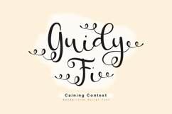 Guidy Fi - Handwritten Script Font Product Image 1