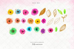 Glitter Floral Clipart  Drawberry CP076 Product Image 2