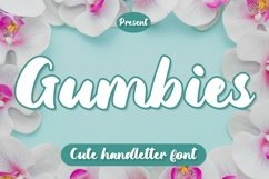 Web Font Gumbies - Cute Handletter Font Product Image 1