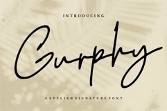 Web Font Gurphy - A Stylish Signature Font Product Image 1