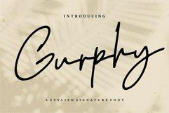 Gurphy - A Stylish Signature Font Product Image 1