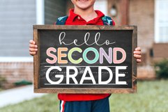 School Days Font with Writing Lines Product Image 5