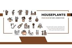 Houseplant Store Sale Landing Header Vector Product Image 1