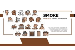 Smoke And Fog Steam Landing Header Vector Product Image 1