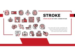 Stroke Health Problem Landing Header Vector Product Image 1