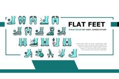 Flat Feet Disease Landing Header Vector Product Image 1