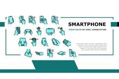 Smartphone Gesture Landing Header Vector Product Image 1