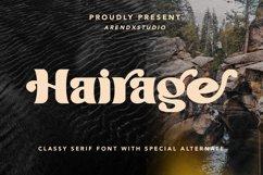 Hairage - Classy Serif Font Product Image 1