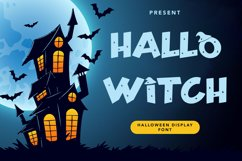 Hallo Witch - Halloween Display Font Product Image 1