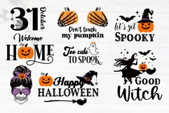 Halloween SVG Bundle, gnome, pumpkin, Halloween quotes Product Image 2