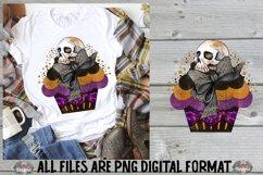 Halloween Cupcake Skull Sublimation Design Product Image 1
