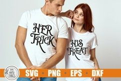Matching Halloween svg. Halloween His and Her svg cut files. These Halloween shirt cut files are compatible with Cricut and Silhouette Cutting Machines