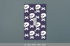 Skull - Halloween Light Switch Cover Sticker Product Image 1