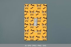 Halloween Monster Light Switch Cover Sticker Product Image 1
