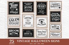 Vintage Halloween Signs Decor svg - halloween svg files png Product Image 2