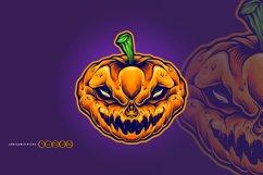 Halloween Skull Monster Carved Mascot Product Image 1