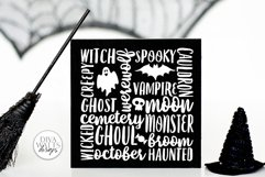 Halloween Subway Art SVG | DXF and More Product Image 1