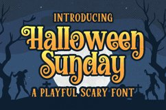 Halloween Sunday - a Playful Scary font Product Image 1