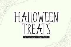 Web Font Halloween Treats - A Fun Handwritten Font Product Image 1