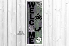 Halloween Party Welcome Vertical Sign SVG Glowforge Files Product Image 2
