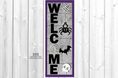 Halloween Party Welcome Vertical Sign SVG Glowforge Files Product Image 1