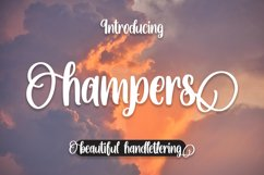 Hampers - Beautiful Handlettering Font Product Image 1