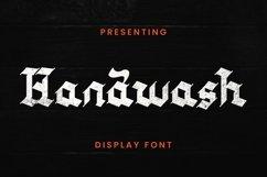 Web Font Handwash - Blackletter Font Product Image 1