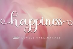 Happiness - Lovely Calligraphy Font Product Image 1