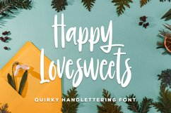 Happy Lovesweet - Quirky Handlettering Font Product Image 1