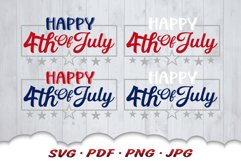 Happy 4th Of July SVG Cut Files Product Image 3