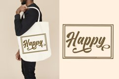 Happy lettering embroidery Product Image 1