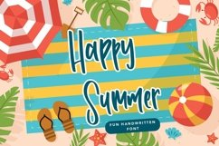Web Font Happy Summer - Fun Handwritten Font Product Image 1