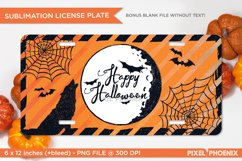 Happy Halloween License Plate Sublimation for Halloween