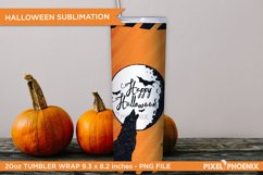 Happy Halloween Tumbler wrap in orange