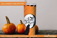 Happy Halloween Sublimation Wrap for skinny tumbler Product Image 3