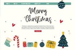 Web Font Harmony - Christmas Display Font Product Image 2