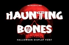 Web Font Haunting Bones - Halloween Display Font Product Image 1