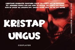 Web Font Haunting Bones - Halloween Display Font Product Image 3