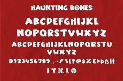 Web Font Haunting Bones - Halloween Display Font Product Image 4