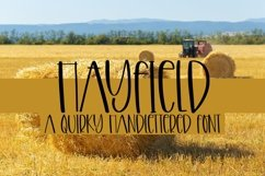 Web Font Hayfield - A Quirky Handlettered Font Product Image 1