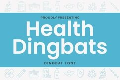 Web Font Health - Dingbats Font Product Image 1
